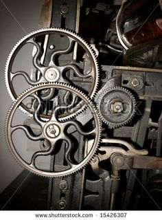 stock photo : Cog and wheel details from machines of the industrial revolution