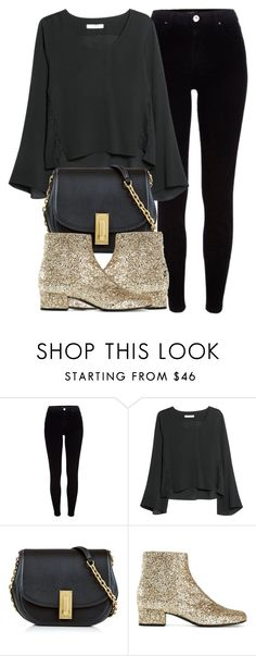 """""""Untitled #5837"""" by laurenmboot ❤ liked on Polyvore featuring River Island, MANGO, Marc Jacobs and Yves Saint Laurent"""