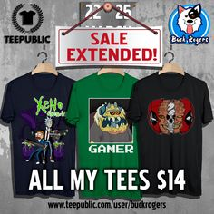 TeePublic #sales EXTENDED! Check out my #Amazing designs here:  https://www.teepublic.com/user/buckrogers