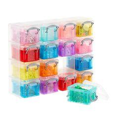 Dunelm 16 Box Really Useful Small Pink, Blue & Yellow Storage Organiser Litre) Craft Storage Box, Lego Storage, Plastic Box Storage, Craft Organization, Storage Boxes, Small Parts Organizer, Shoe Organizer, Craft Cabinet, Photo Boxes