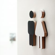This male/female décor bathroom sign is made from a high quality birch plywood base, with a matt finish. Available in a black or white finish, please chose from the drop down list of colour (on your right) the combination of choice. Our funky designs will give that extra touch of quirkiness to any space! Sizing: 12cm high / 9mm