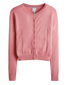 Joules null Womens Everyday Cardigan, Pale Peachy Pink.                     A stylish everyday essential in the softest cotton and with a touch of cashmere too. The pointelle-stitch detailing lifts it out of the ordinary and makes it a great option to layer over our tunics and dresses.