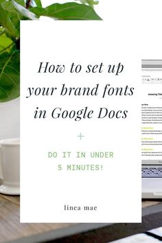 Looking to quickly and minimally brand your business documents without having to learn how to use design software? Google Docs are an easy way to send and share materials with your clients and coworkers, and now you can easily use your branded fonts and colors. Follow these 5 easy steps to set up branded default font style to use in your Google Docs again and again. Did I mention it will take less than 5 minutes? You need this for your business!