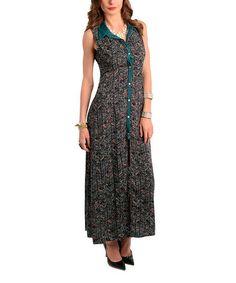 Navy Herringbone Maxi Shirt Dress - regularly $48, Zulily price $19.99 1/16/2014