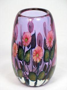 Daniel Lotton - Purple (Neodymium) with Small Pink Asters Vase