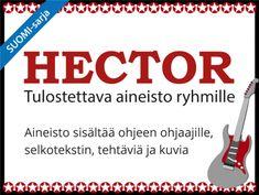 Tulostettava Hector-selkoaineisto ryhmätoimintaan | RyhmäRenki Ukulele, Personal Care, Self Care, Personal Hygiene