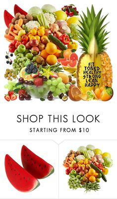 """""""'cause I'm happy"""" by didesi ❤ liked on Polyvore featuring beauty and FRUIT"""
