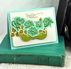 Hello Buttercup Card by Dawn McVey for Papertrey Ink (July 2012)