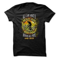 Mountain biking t-shirt - All I care about is mountain  T Shirt, Hoodie, Sweatshirt
