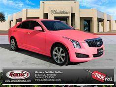 2014 Cadillac ATS Turbo Luxury pink car ⊛_ḪøṪ⋆`ẈђÊḙĹƶ´_⊛ Cadillac Ats, My Dream Car, Dream Cars, Hot Pink Cars, Dallas, Car Finder, Pink Jeep, Pink Truck, Life Car