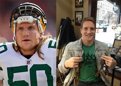 He's always been a hero of mine since his OSU days and of course one of my favorite Packers! He cut his famous hair off to help make wigs for children with cancer!