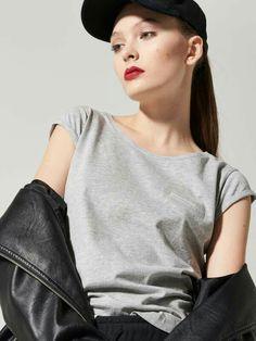 House Gładki t-shirt z kieszonką  PV604-09M