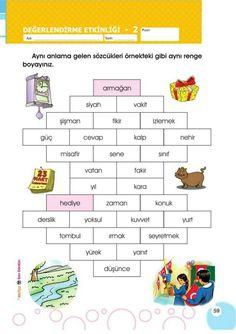 Games For Kids, Activities For Kids, Turkish Language, First Grade, Worksheets, Preschool, Learning, Children, Fun