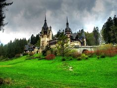 Peles Castle (Castelul Peleș) - Neo-Renaissance castle in the Carpathian Mountains, near Sinaia, in Prahova County, Romania. Places Around The World, Oh The Places You'll Go, Places To Visit, Around The Worlds, Beautiful Castles, Beautiful Places, Beautiful Scenery, Amazing Places, Beautiful Pictures