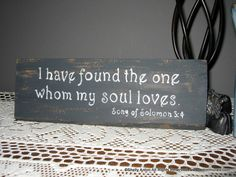 Verse Sign Barnwood Art I have found the one Song of Solomon. $12.95, via Etsy.