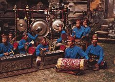 Gamelan - traditional Indonesian orchestra.