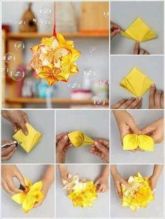 DIY Origami Flowers Step By Tutorials