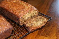 Nothing better for breakfast than fresh banana bread!