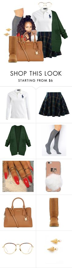 """""""Honor Roll Student"""" by melaninprincess-16 ❤ liked on Polyvore featuring Ralph Lauren, Chicwish, ASOS, MICHAEL Michael Kors, UGG, Linda Farrow and Vita Fede"""