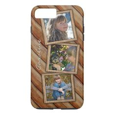 #photo - #Your Name Photos Rustic Wood Planks Pattern iPhone 7 Plus Case