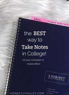 take notes in colleg