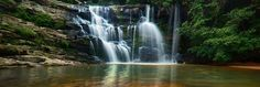 Paradise Valley Nature Reserve, 100 hectares of coastal and remnant grassland, boasts one of the two national monuments to be found in Pinetown Water Pictures, Paradise Valley, Nature Water, Holiday Activities, Nature Reserve, Diy Painting, Coastal, Waterfall, Monuments