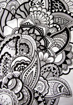 Hand drawn by me with Sharpie fine point. You can find phone cases and more with this design at my shop:  http://society6.com/v_art      #zentangle #zendoodle #art #society6 #doodle #sharpie #sharpieart #drawing #design