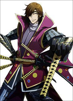 Sengoku basara - sanada yukimura , date masamune Hot Anime Guys, All Anime, Me Me Me Anime, Sanada Yukimura, Date Masamune, Sengoku Basara, Black Characters, Samurai Warrior, Boy Pictures