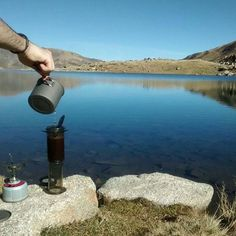 How's the view. |  TAG your coffee friend! |  Shop NOW  @originalaeropress Link in Bio  by @Llibori by originalaeropress