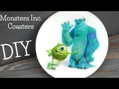 DIY Monsters Inc Coaster Another Coaster Friday Craft Klatch - YouTube