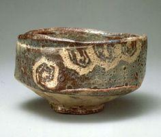 Rat Shino bowl inscription Mine autumn leaves