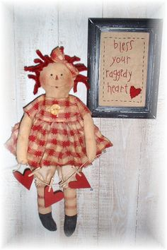 Primitive+Bless+Your+Raggedy+Heart+Annie+by+PrindleMountainPrims,+$5.00