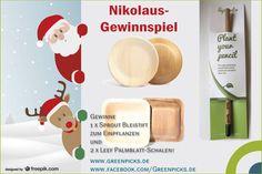 #Nikolaus #Gewinnspiel 2016 Gewinne einen Sprout Bleistift zum Einpflanzen und zwei Leef Palmblatt-Schalen! #Gewinnspiel bei @Greenpicks_de https://www.facebook.com/Greenpicks.de/