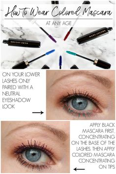 Eye Makeup Tutorials : How to Wear Colored Mascara / At Any Age! Colored Mascara, Blue Mascara, Fiber Lash Mascara, Mascara Review, Mascara Tips, Neutral Eyeshadow, Eyeshadow Looks, Green Makeup, Italy