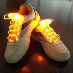 Light Up LED Shoelaces Flash Disco Glowing Night Sports Shoe Strings  Multicolors b6cad1a28ef