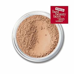 ORIGINAL SPF 15 Foundation  www.bareminerals or at Boots in Bluewater.  Medium Beige.  Use for light coverage as too much is drying and can dull the skin.  Buff with circular brush motion, contour face with bronzer, finish with mineral veil