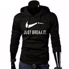 JUST BREAK IT Printed Sportswear Sweatshirt - treasure shop