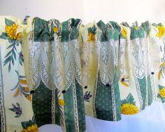 sunflower kitchen decor | Kitchen Valance, Provence Decor, Olive Sunflower Curtain, Farmhouse ...