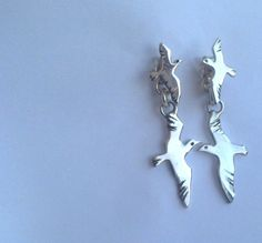 Seagull Earrings, Handmade, Sterling Silver, Freedom Jewelry, Summer And Sea
