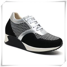 Increase Women's height 8CM/3.15 Inch instantly and invisibly  Upper Material: Microfiber/Suede Leather  Lining Material: Pigskin Leather  Outsole Material: Rubber  Insole Material: PU  Occasion: Leisure, Sport  Color Selection:Black/grey  Style: Sport  Season: Spring,Summer,Autumn  Wholesale: YES  Shipping: Free Global Shipping with DHL/Fedex
