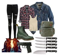 """""""Hunting~supernatural"""" by tortoise199 ❤ liked on Polyvore featuring J.Crew, Rails, Field & Stream, Miss Selfridge, Dr. Martens, Rebecca Minkoff, Ginsu, supernatural and spn"""