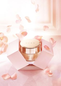 I believe the pink florals connect with the product and deliver the message of femininity and purity that the product delivers Skincare Packaging, Beauty Packaging, Cosmetic Packaging, Beauty Ad, Clean Beauty, Still Photography, Product Photography, Beauty And The Best, Cosmetic Design
