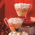 White Chocolate-Candy Cane Parfaits Recipe | Holidays