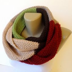 knit infinity scarf / colorful knitted scarf / by senoAccessory, $45.00