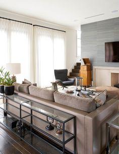 Living Gallery - Robert Elliott Custom Homes Custom Home Builders, Custom Homes, Frank Lloyd Wright, Living Area, Living Rooms, Hearth, Modern Farmhouse, Entryway Tables, Interior Design