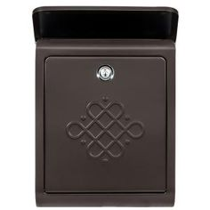 Architectural Mailboxes Bordeaux Locking Rubbed Bronze Wall Mount Mailbox 2697RZ-10 at The Home Depot - Mobile