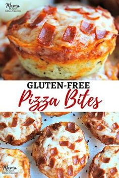 Gluten-free deep dish pizza bites are super easy to make.You can find Dairy free appetizers and more on our website.Gluten-free deep dish pizza bites are super easy to make. Cookies Sans Gluten, Dessert Sans Gluten, Dairy Free Appetizers, Gluten Free Recipes For Dinner, Dinner Recipes, Party Appetizers, Gluten Free Recipes For Toddlers, Easy Gluten Free Meals, Dinner Ideas