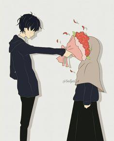 kumpulan kartun romantis parf 3 - my ely Love Cartoon Couple, Manga Couple, Anime Love Couple, Girl Cartoon, Cute Cartoon, Cartoon Art, Cute Couple Drawings, Cute Couple Art, Cute Muslim Couples