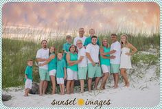 colorful beach pictures, family beach pictures, family poses, beach pictures, sunset beach pictures, boys, little boys, destin, little girls, large family pictures, large family poses