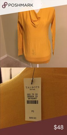NWT Talbot's Light Weight Cowl Neck Sweater SP NWT Talbots Light Weight Cowl Neck Sweater in A Golden yellow color. SP Price is Firm unless Bundled. Talbots Sweaters Cowl & Turtlenecks